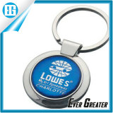 Epoxy Stickerの青いCircular Custom Logo Key Chain