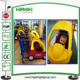 Магазинная тележкаа бакалеи вагонетки тяги руки детей малышей младенца