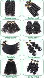 Extensão natural do cabelo preto da onda humana indiana
