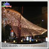 Luces de la cascada de la cortina de la Navidad de la fabricación LED de la decoración de la alameda
