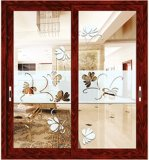 Puertas de vidrio de desplazamiento de aluminio del diseño de Europa