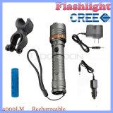 Modus CREE LED des Summen-T6 4000lm 5 Selbstverteidigung-Taschenlampe