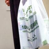 ハンドルが付いている生物分解性のプラスチックショッピング・バッグ
