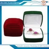 Коробка ювелирных изделий двойного кольца бархата конструкции способа фабрики упаковывая