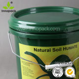 Innopack 10のリットルのオイルの潤滑油のためのふたが付いているプラスチック食糧バケツPPの化学包装のバケツ