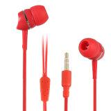 Écouteur bon marché du stéréo MP3 d'Earbuds de dans-Oreille colorée faite sur commande de haute performance