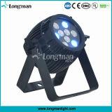 Patente 9 * 3W RGB LED 920lumens PAR LED para la etapa de la decoración