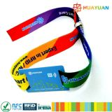 Bracelet du bracelet NFC d'IDENTIFICATION RF tissé par tissu fait sur commande de Cloth pour le festival d'événements
