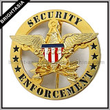 カスタム堅いエナメルの金属の警察は記章を付ける(BYH-10037)