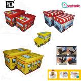 Gsa7045 de Kruk van de Opslag van de Reeks van het Ontwerp van de Bus van Jonge geitjes voor Speelgoed en Doek