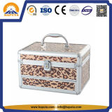 Leopard-lederner kosmetischer Verfassungs-Koffer-Serien-Kasten (HB-2004)