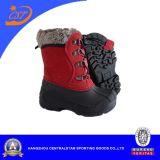 Ботинки снежка Оксфорд способа красные для малышей