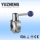 Yuzhengの衛生溶接された蝶弁の製造業者