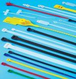 Cravate en plastique colorée des accessoires de câble