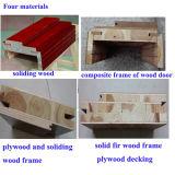 Chêne découpant les portes extérieures en bois solide de modèle