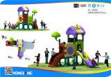 Apparatuur van de Speelplaats van de Dia van kinderen de Plastic Kleurrijke Goedkope Openlucht (yl-Y055)
