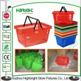 Plastikeinkaufskorb mit zwei Griffen