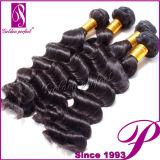 自然な未加工インドの毛、卸売の加工されていないバージンの毛の束