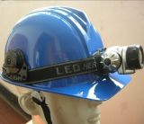 Capacete do trabalho do tampão do mineiro com lâmpada do diodo emissor de luz