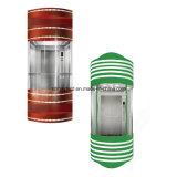 Лифт комнаты машины панорамный с испеченной сталью эмали