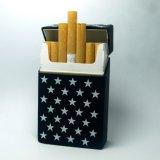 より安いケイ素のタバコ用パイプはプラスチックタバコ入れを囲む