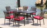 고정되는 바베큐 테이블 및 의자를 식사하는 옥외 정원 가구 안뜰 주조 알루미늄 5PCS