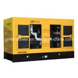 Unir el motor insonoro de la potencia 60kVA Doosan que genera el conjunto