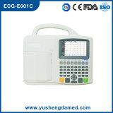 Seis CE ECG-E601c aprovado da máquina do Portable ECG de Digitas da canaleta