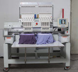 Wonyo 2 Farben der Kopf-Stickerei-Maschinen-9 und 12 für Schutzkappen-T-Shirt und flaches Bett-Stickerei