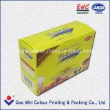 印刷された茶紙箱
