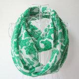 Fashion Python Veins Printed女性ポリエステル軽くて柔らかい無限スカーフ(YKY1097)