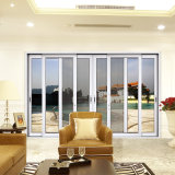 Feelingtop 2.0mm 2 Rails Double Temper Glass Aluminium Door