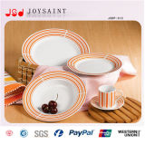 Conjunto de cerámica de la placa con diverso diseño o el diseño del cliente