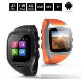 Googleの演劇の記憶装置が付いている人間の特徴をもつスマートな腕時計