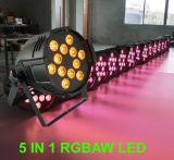 Indicatore luminoso poco costoso della fase di 12PCS 15W Rgbaw per la discoteca di cerimonia nuziale del partito