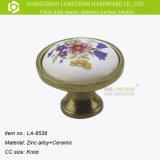 De klassieke Decoratieve Ronde Ceramische Knoppen van de Deur van het Porselein