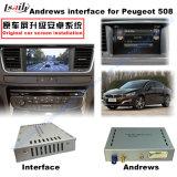 Androide Navigations-videoschnittstelle für Peugeot 208, 2008, 308, 408, (MRN SYSTEM) Noten-Navigation des Aufsteigen-508, WiFi, Mirrorlink, Google Karte,