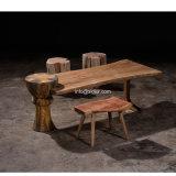 (SL-8502) Tabela de chá pública da madeira contínua da mobília do restaurante do hotel de luxo