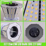 온난한 백색 15 와트 포스트 상단 LED 정원 전구