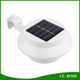 Runde LED-Solarrinne-Licht-Zaun-Garten-Lampe mit 3PCS hohen hellen LED im Freienbeleuchtungen