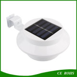 Runde LED-Solarbeleuchtung-Zaun-Garten-Lampe mit 3PCS hohe helle LED