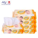 OEM упаковки стикера листов ткани 80 младенца обтирает фабрику