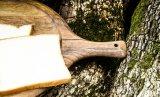 Bandeja de madeira natural Prato de prato Bandeja de servir Bamboo Bamboo Serving Tray