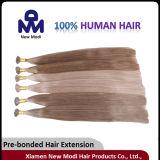 Extensões Pre-Ligadas brasileiras do cabelo do cabelo humano do Virgin da ponta lisa