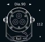 9W RGB黒いハウジングの庭の照明LED (JP832034)