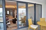 Раздвижная дверь панели алюминиевой рамки стеклянная двойная