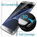 3D effacent la glace Tempered incurvée de couverture totale pour le bord de la galaxie S7 de Samsung