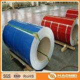 PE en aluminium enduit d'une première couche de peinture coloré PVDF de bobine