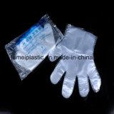 Poli guanti a gettare dell'HDPE o del LDPE del vinile del polietilene di plastica