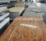 PVDF para prova de humidade PVC Faux / Artificial Marble Wall Panel / Wall Tile / Stone Tile for Exterior Decoration